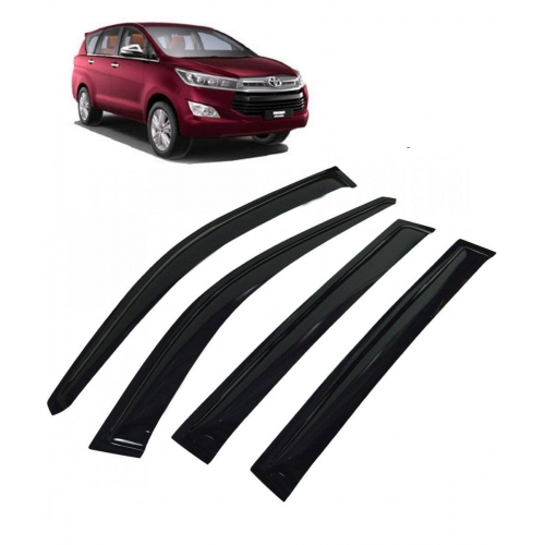 Car Window Door Visor For Toyota Innova Crysta Set Of 6 (Black)