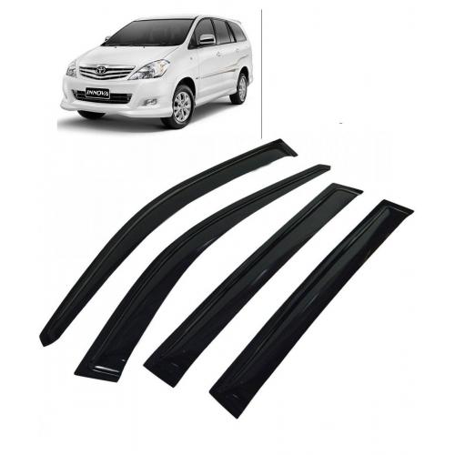 Car Window Door Visor For Toyota Innova Set Of 6 (Black)