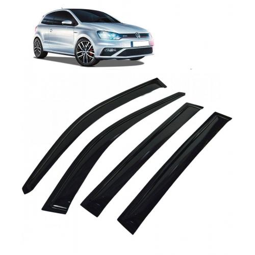 Car Window Door Visor For Volkswagen Polo Set Of 4 (Black)