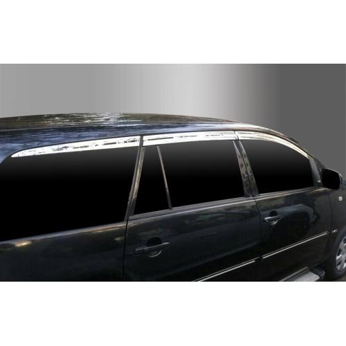 Autoclover Full Chrome Window Door Visor Deflector For Toyota Innova 2006 2012