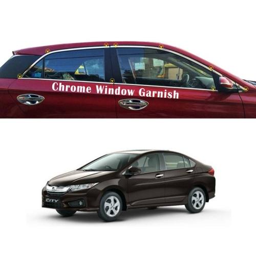 Honda City I dtech 2014 Full Window Chrome Garnish Trims