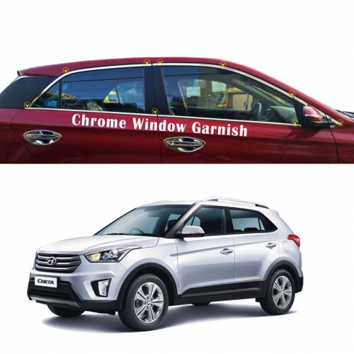 Hyundai Creta Full Window Chrome Garnish Trims