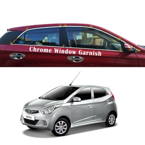 Car Full Window Chrome Garnish Trims For Hyundai Eon