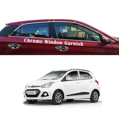 Hyundai Grand I10 Full Window Chrome Garnish Trims