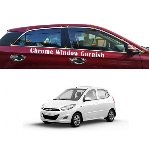 Hyundai I10 Old Full Window Chrome Garnish Trims
