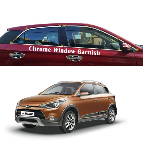 Hyundai I20 Active Full Window Chrome Garnish Trims