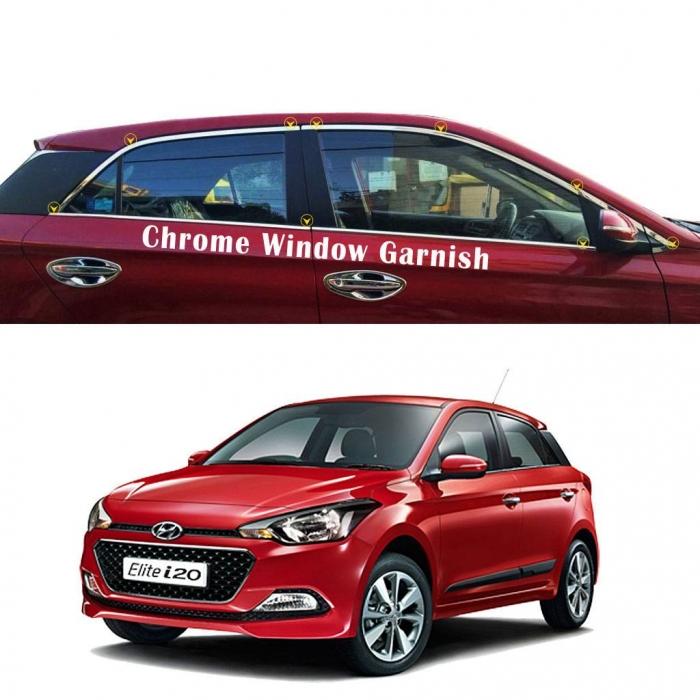 Hyundai I20 Elite Car Full Window Chrome Garnish Trims