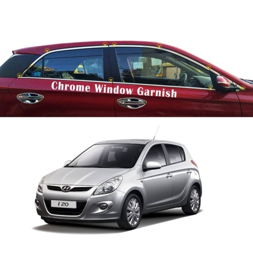 Hyundai I20 Old Full Window Chrome Garnish Trims