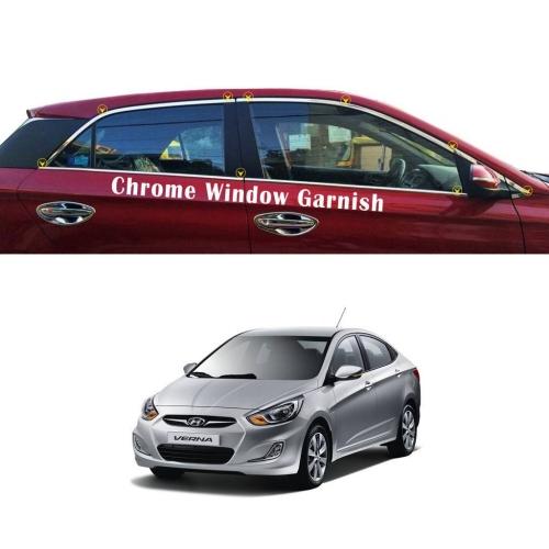 Hyundai Verna Fluidic Full Window Chrome Garnish Trims