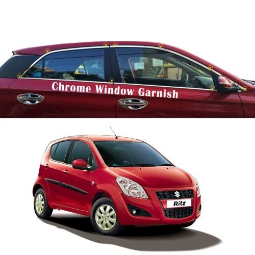 Maruti Suzuki Ritz Full Window Chrome Garnish Trims