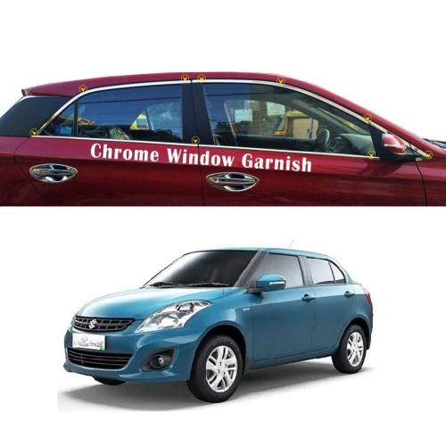 Maruti Suzuki Swift Dzire Full Window Chrome Garnish Trims
