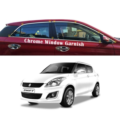 Maruti Suzuki Swift Full Window Chrome Garnish Trims