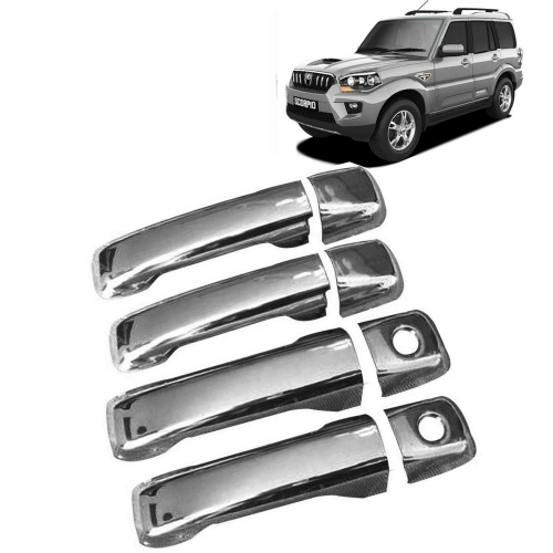 Mahindra New Scorpio Chrome Handle Covers All Models - Set of 4