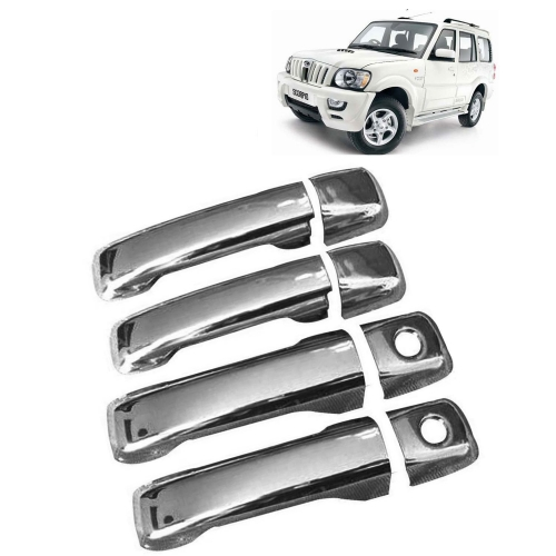 Mahindra Scorpio Old Chrome Handle Covers All Models - Set of 4
