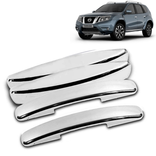 Nissan Terrano Chrome Handle Covers all Models - Set of 4