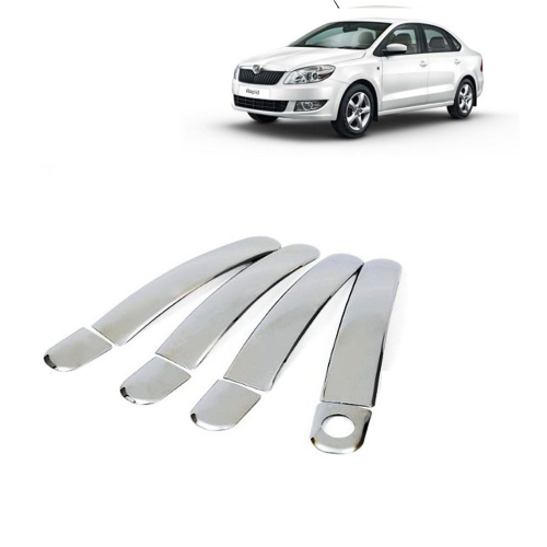 Skoda Rapid Chrome Handle Covers all Models - Set of 4