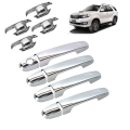 Car Door Handle Chrome Cover With Handle Bowl For Toyota Fortuner Old (Imported)