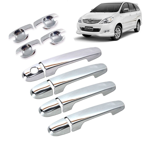 Car Door Handle Chrome Cover with Handle Bowl for Toyota Innova (Imported)