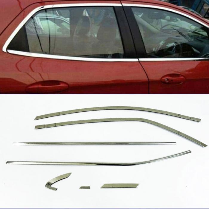 Toyota Corolla Altis Full Window Chrome Garnish Trims (Set Of 14Pcs.)