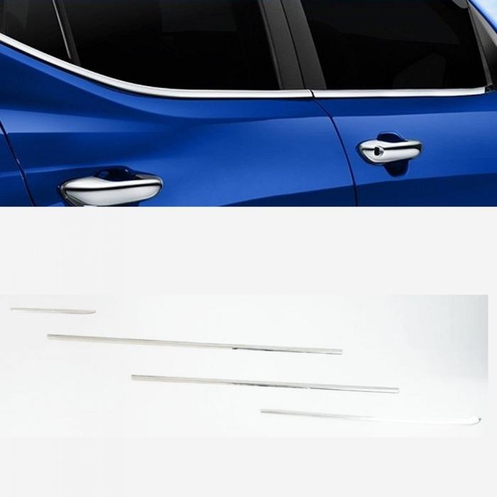 Honda Amaze 2015 Lower Window Chrome Garnish Trims (Set Of 4Pcs.)