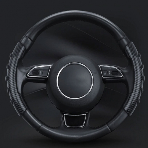 Steering Wheel Anti-skid Sleeve Cover For All Car in Carbon Graphite Texture