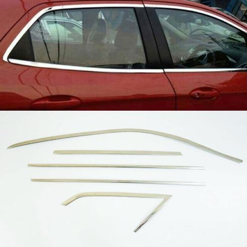 Maruti Suzuki Vitara Brezza Full Window Chrome Garnish Trims (Set Of 10Pcs.)