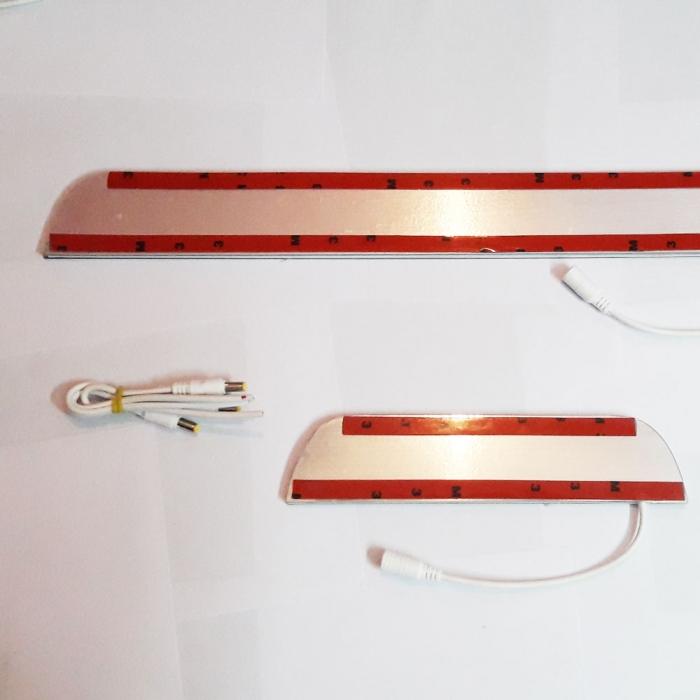 Nissan Kicks Door Foot LED Mirror Finish Scuff Sill Plate Guards (Set of 4Pcs.)