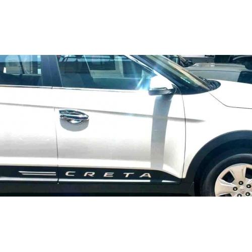 Car Logo 3D Letter Chrome Stickers Emblem For Hyundai Creta (Set Of 2)