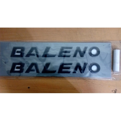 Maruti New Baleno Logo Decal 3D Letter Emblem (Set Of 2)