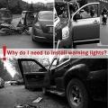 Waterproof 5 LED Wireless Car Open Door Warning  Indicator Flash Wireless Alert Lights (Set of 4Pcs, With Batteries)