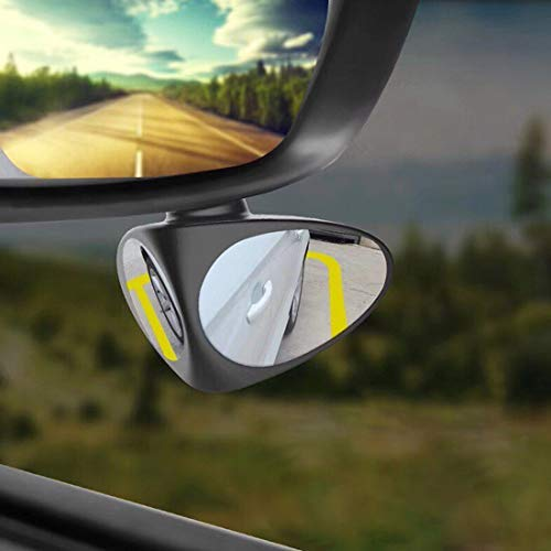 3R Double Rear View Wide Angle Blind Spot Mirror For Car Tyre (Right & Left)