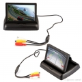 Car Deshboard Rear View Monitor Foldable With Camera (4.3 Inches)