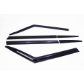 Autoclover Window Door Visor Deflector For Mahindra TUV 300 Set of 6 Smoke Color