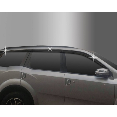 Autoclover Window Door Visor Deflector For Mahindra Xuv 500 2015 Set of 6 Smoke Color