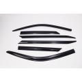 Autoclover Window Door Visor Deflector For Toyota New Fortuner Set of 6 Smoke Color