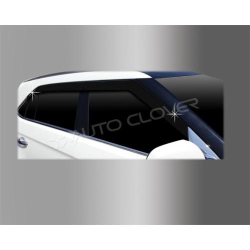 Autoclover Window Door Visor Deflector For Hyundai Creta Set of 4 Smoke Color