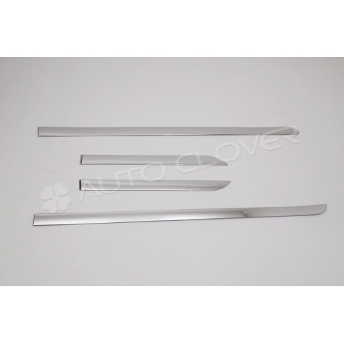 Autoclover High Quality Custom Fitted Chrome Side Skirt Trims For Hyundai i20 Elite Set Of 4