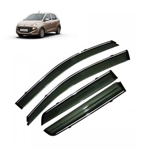 Car Window Door Visor With Chrome Line For Hyundai New Santro 2018 Set Of 4
