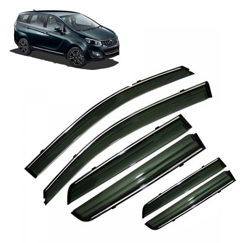 Car Window Door Visor With Chrome Line For Mahindra Marazzo Set Of 6