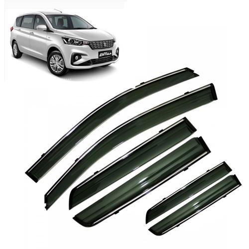 Car Window Door Visor With Chrome Line For Maruti Suzuki New Ertiga 2018 Set Of 6