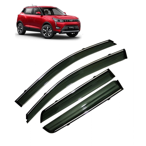 Car Window Door Visor With Chrome Line For Mahindra Xuv 300 (Imported)