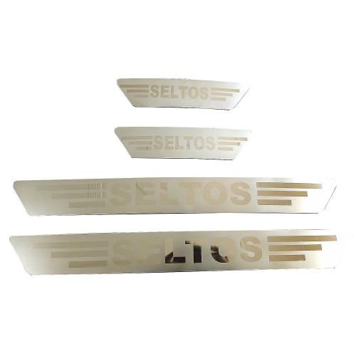 Kia Seltos Door Scuff Sill Plate Guards (Set of 4 Pcs.)