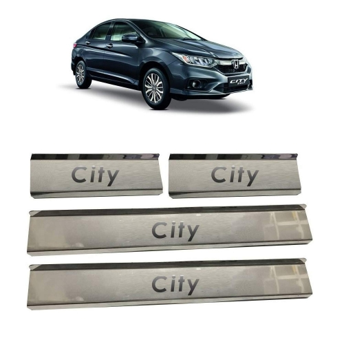 Honda City Door Scuff Sill Plate Guards (Set of 4 Pcs.)