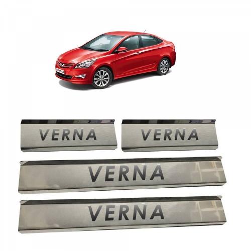 Hyundai Verna Door Scuff Sill Plate Guards (Set of 4 Pcs.)