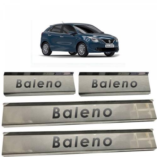 Maruti New Baleno Door Scuff Sill Plate Guards (Set of 4 Pcs.)