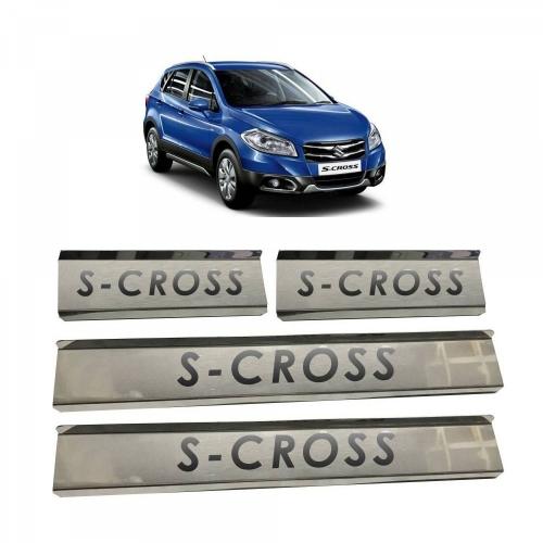 Maruti S Cross Door Scuff Sill Plate Guards (Set of 4 Pcs.)