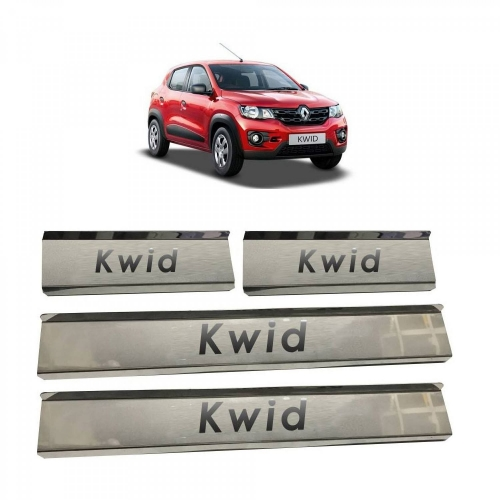 Renault Kwid Door Scuff Sill Plate Guards (Set of 4 Pcs.)