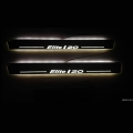 Car Door LED Light Scuff Sill Plate Guards for Hyundai I20 Elite (Set of 4Pcs.)