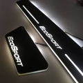 Ford Ecosport Door Foot LED Mirror Finish Black Glossy Scuff Sill Plate Guards (Set of 4Pcs.)