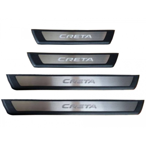 Hyundai New Creta 2020  OEM Led Scuff Door Side Sill Plates (Set of 4 Pcs.)